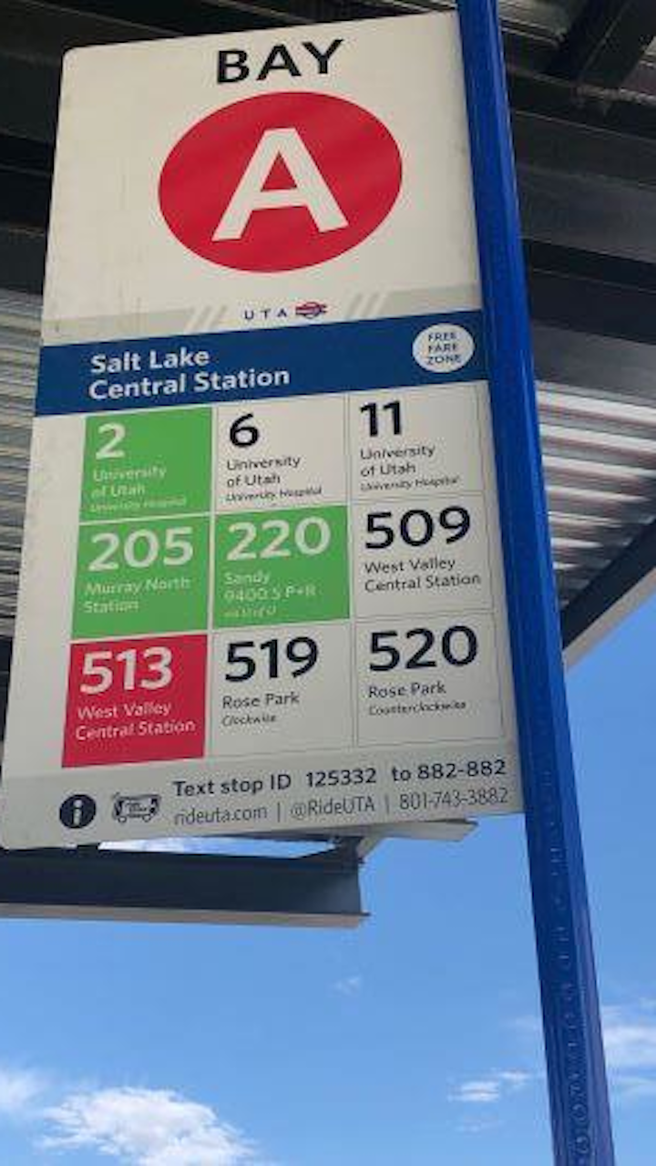 uta improving the rider experience with new bus stop signs mass transit bus stop signs