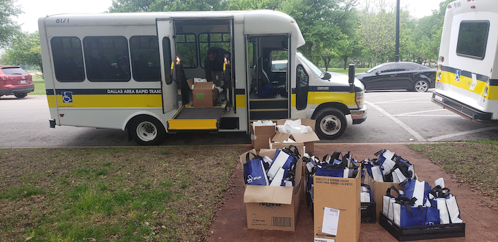 Dart Partners With City Of Dallas To Deliver Senior Care Packages Mass Transit